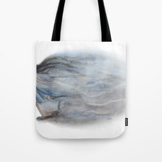 Bursting through Tote Bag