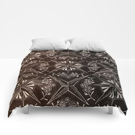 Forget me not compass (black) Comforters