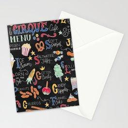Le Cirque Circus Treats Menu Stationery Cards