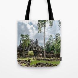 Bayon Temple at Angkor Thom, Siem Reap, Cambodia Tote Bag