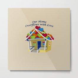 Our Overflowing Love on Beige Metal Print