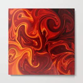 Abstract Lava Metal Print