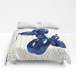 Minimal balloon dog Comforters