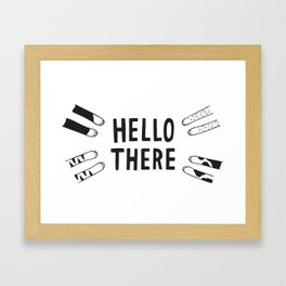 """""""Hello There"""" Cat Paws Framed Art Print"""