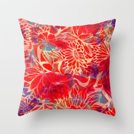 Floral Floral Floral  Throw Pillow