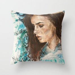 My name is not 'little girl' Throw Pillow