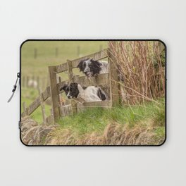 Countryside farm sheep dogs Laptop Sleeve