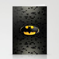 bat man Stationery Cards featuring BAT MAN by BeautyArtGalery
