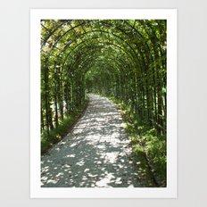 Strolling in Germany Art Print