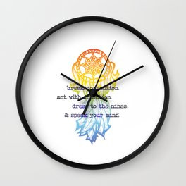 Break Convention Wall Clock