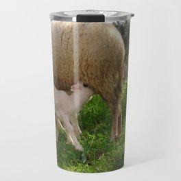 Lamb Suckling From An Ewe Travel Mug