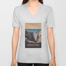 Sleeping Giant Provincial Park Unisex V-Neck
