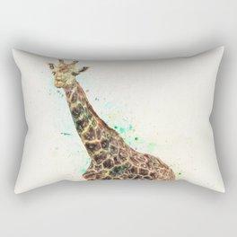 Giraffe Study Rectangular Pillow
