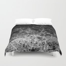 Paris map Duvet Cover