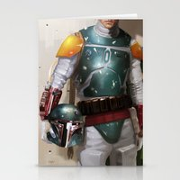 boba Stationery Cards featuring Boba Fett by Yvan Quinet