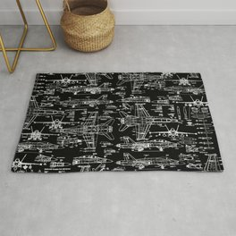 F-18 Blueprints // Black Rug
