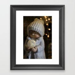 Christmas girl, child Framed Art Print