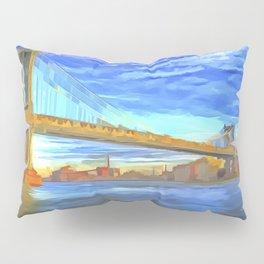 Manhattan Bridge Pop Art Pillow Sham
