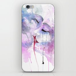 "Watercolor Painting of Picture ""Passion"" iPhone Skin"