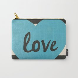 Love striped Carry-All Pouch
