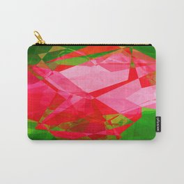 Pink Roses in Anzures 2 Abstract Polygons 1 Carry-All Pouch