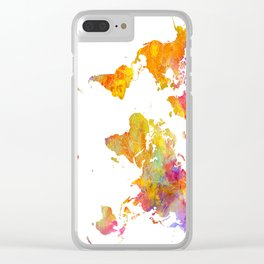 world map 23 Clear iPhone Case