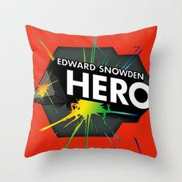 Edward Snowden Prism Hero Throw Pillow