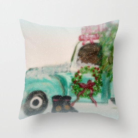 Santa's Ride Throw Pillow