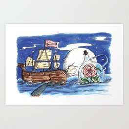 message from the sea. Art Print