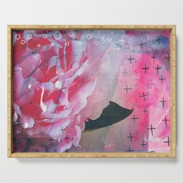 Pretty in Pink Peony Serving Tray