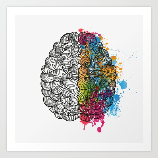 My Brain Art Print