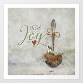 A Spoonful of Hummingbird Art Print