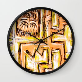 Avec et a Travers by Johnny Otto Wall Clock