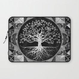 Tree of life - Gray scale Gemstone Laptop Sleeve