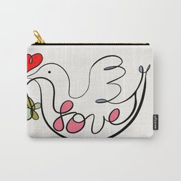 Peace Dove With Leaf and Heart Carry-All Pouch