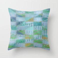 A Light Summer Rain Throw Pillow