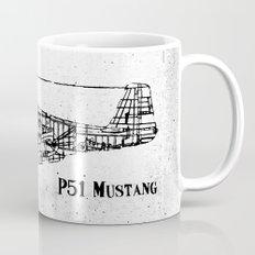 North American P51 Mustang (black) Mug