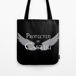 Protected by Castiel White Wings Tote Bag