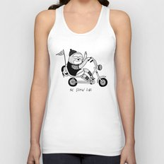 Sloth riding a bike Unisex Tank Top