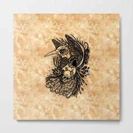 Hummingbird Texture Metal Print
