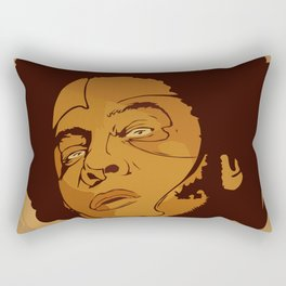 smoke the happy Rectangular Pillow