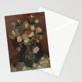 Vase with Chinese Asters and Gladioli Stationery Cards