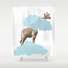 Giraff in the clouds . Joy in the clouds collection Shower Curtain