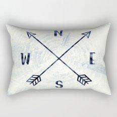 Compass in Navy Blue Rectangular Pillow