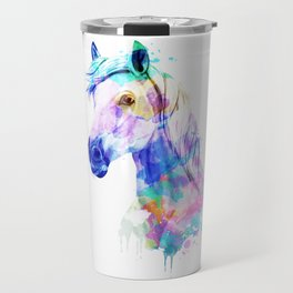 Horse Watercolor, Horse Print, Watercolor Print, Watercolor Animal, Horse Painting, Horse Gift Print Travel Mug