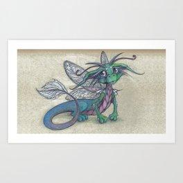 Dragonfly Dragon Art Print