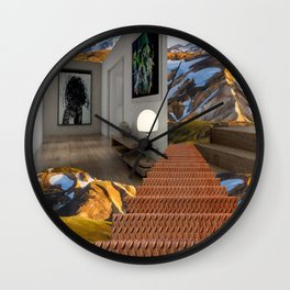 Open Plan Living Wall Clock