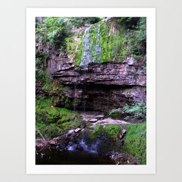 Waterfall Sgwd Henrhyd Drips Art Print
