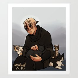 Marsh's cats Art Print