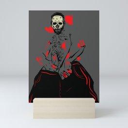 Halloween bones Mini Art Print